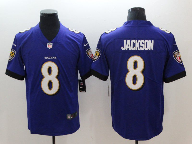 Men Baltimore Ravens 8 Jackson Purple Nike Vapor Untouchable Limited NFL Jerseys