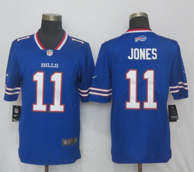 c6a3ca84ab4 Men Buffalo Bills 11 Jones Blue Vapor Untouchable Limited Player Nike NFL  Jerseys