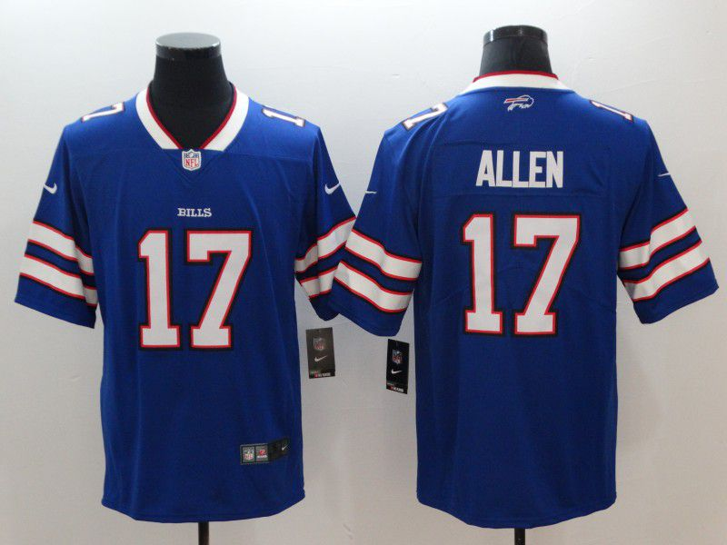 Men Buffalo Bills 17 Allen Blue Nike Vapor Untouchable Limited NFL Jerseys