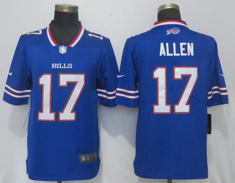 Men Buffalo Bills 17 Allen Blue Nike Vapor Untouchable Limited Playe NFL Jerseys