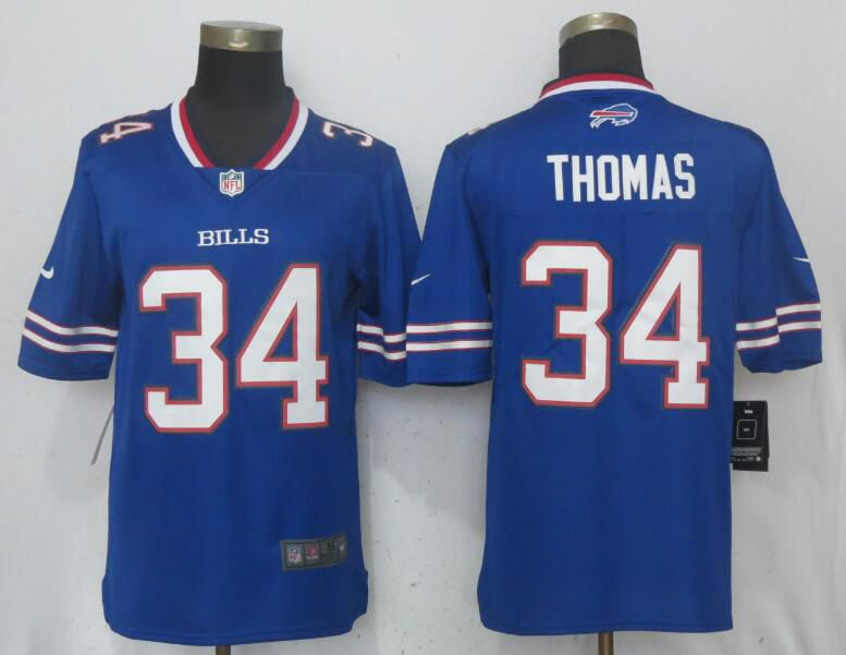 Men Buffalo Bills 34 Thomas Blue Vapor Untouchable Limited Player Nike NFL Jerseys