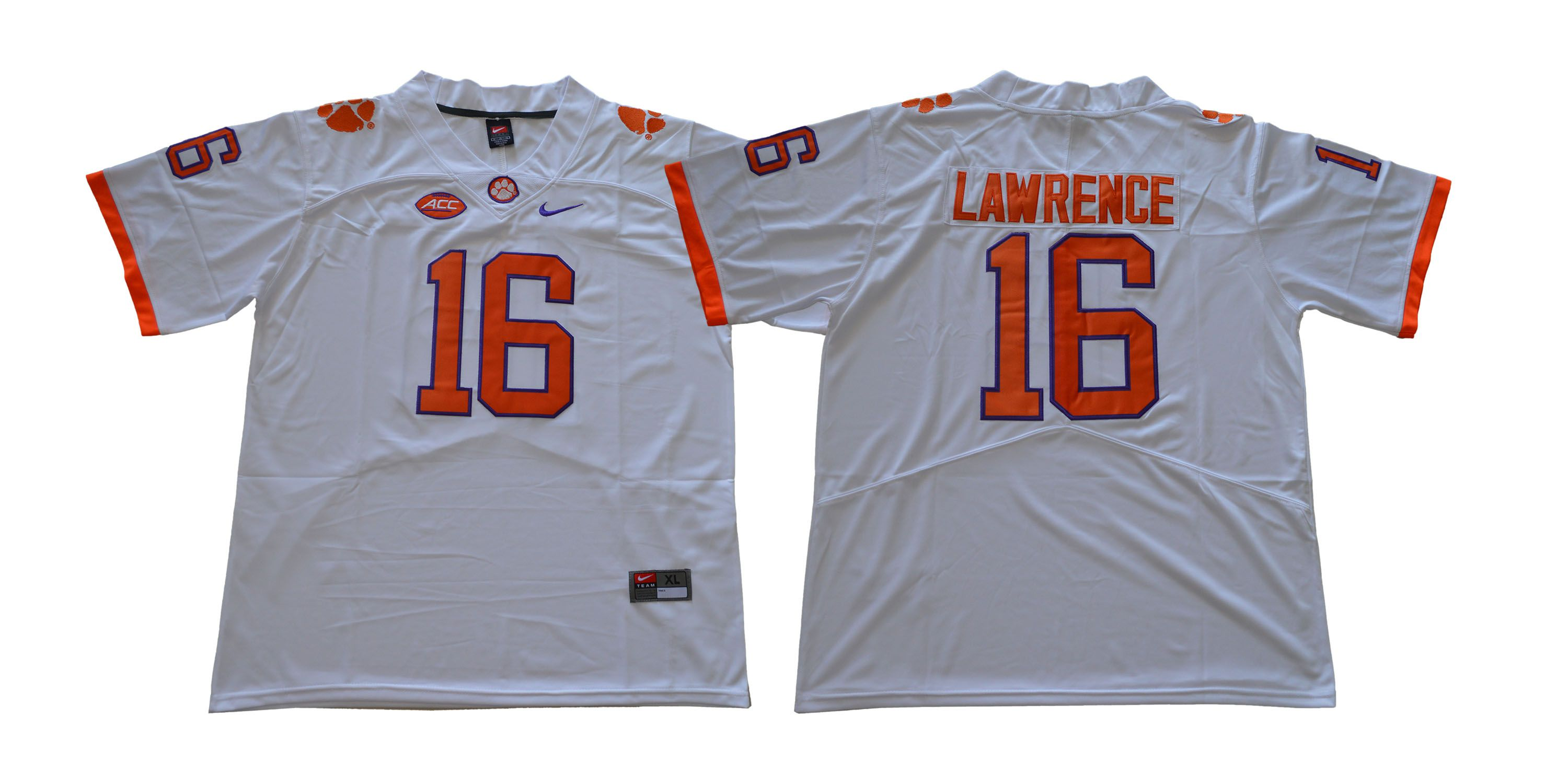 Men Clemson Tigers 16 Lawrence White NCAA Jerseys