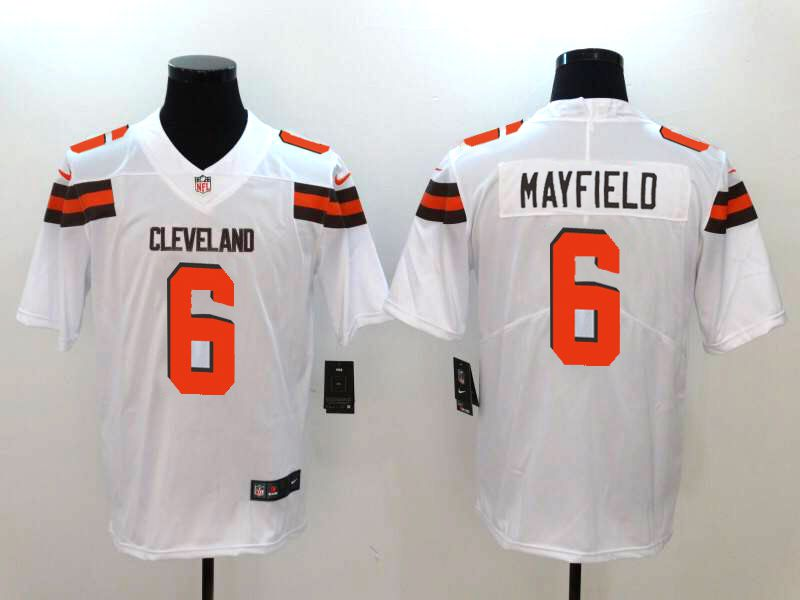 Men Cleveland Browns 6 Mayfield White Nike Vapor Untouchable Limited NFL Jerseys