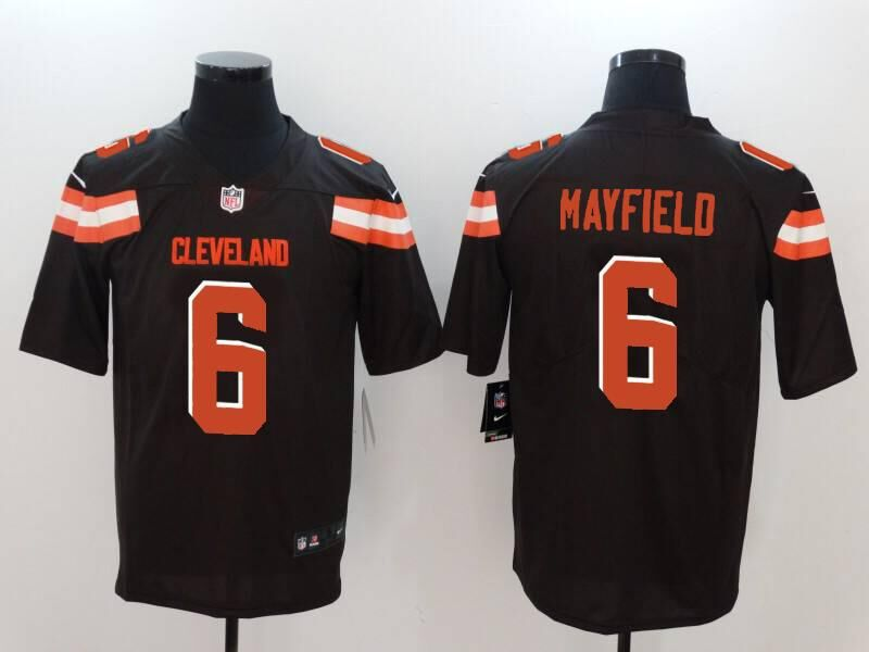 Men Cleveland Browns 6 Mayfield brown Nike Vapor Untouchable Limited NFL Jerseys