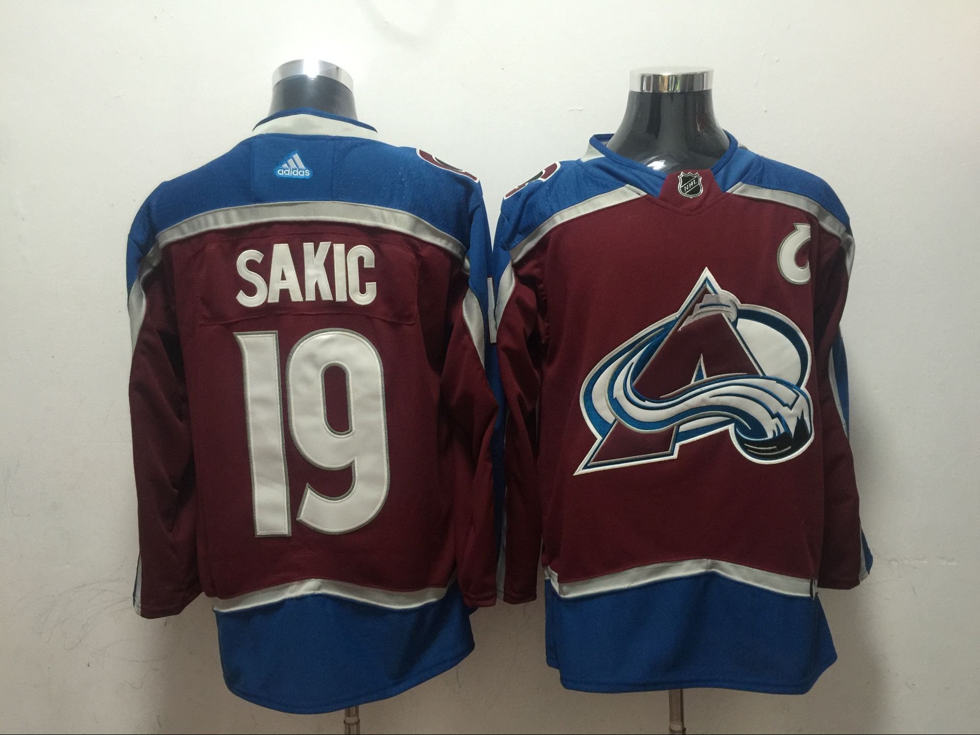 934221dab08 ... promo code for men colorado avalanche 19 sakic red adidas hockey  stitched nhl jerseys 0d92d dfaaf