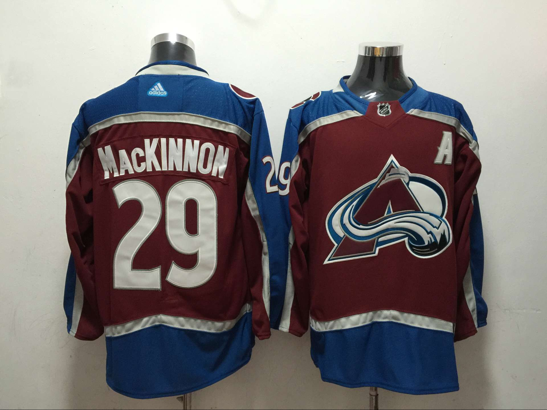 Men Colorado Avalanche 29 Mackinnon Red Adidas Hockey Stitched NHL Jerseys