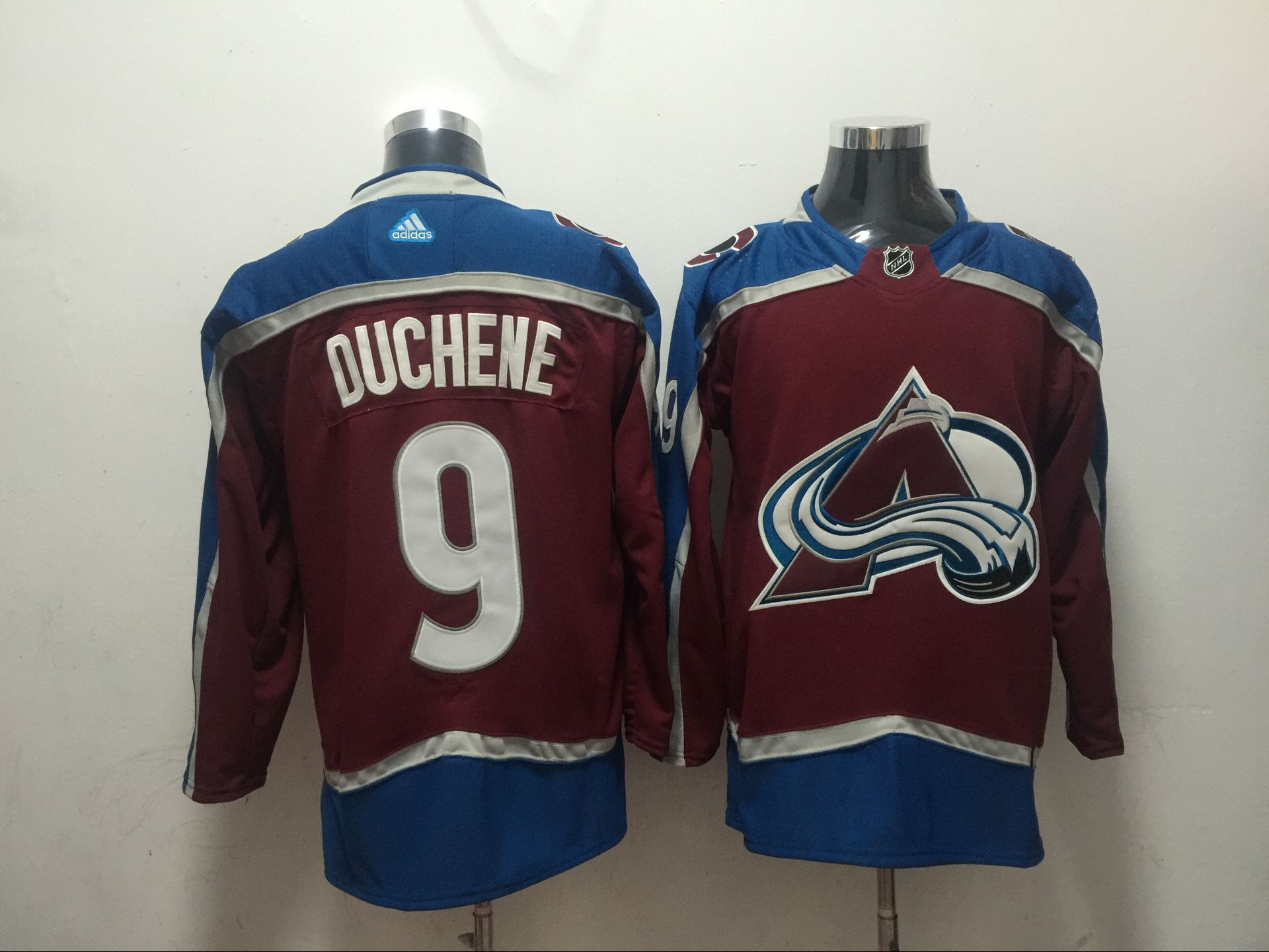 Men Colorado Avalanche 9 Duchene Red Adidas Hockey Stitched NHL Jerseys