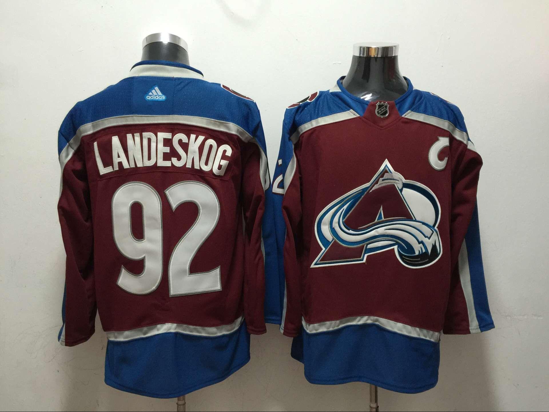 068ae648a ... reduced men colorado avalanche 92 landeskog red adidas hockey stitched  nhl jerseys df126 f4f9b