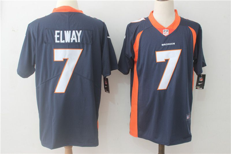 Men Denver Broncos 7 Elway Blue Nike Vapor Untouchable Limited NFL Jerseys