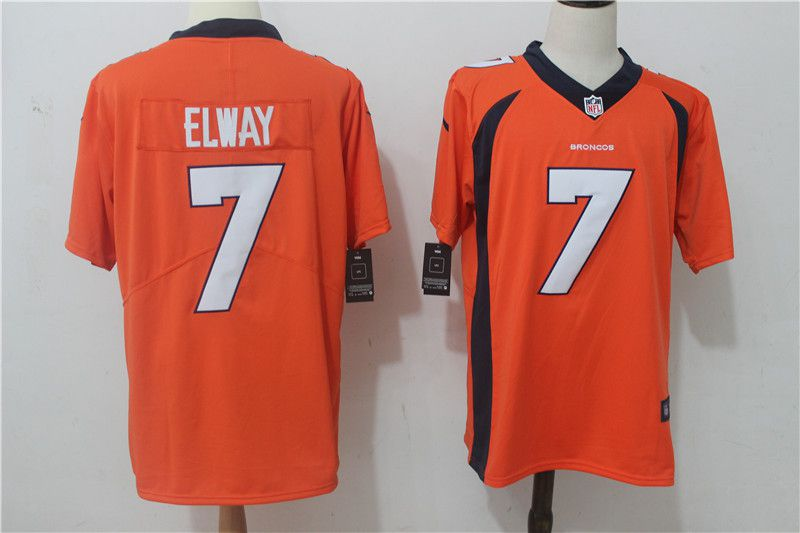 Men Denver Broncos 7 Elway Orange Nike Vapor Untouchable Limited NFL Jerseys