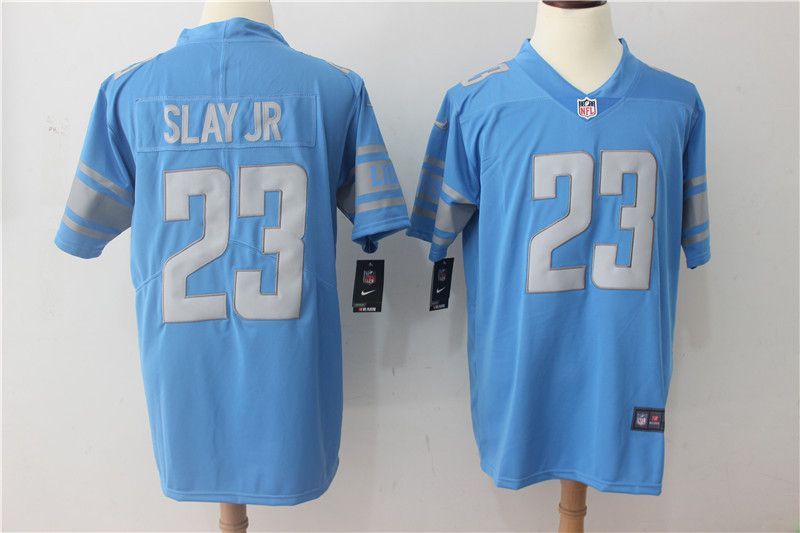 Men Detroit Lions 23 Slay jr Blue Vapor Untouchable New Nike Limited Player NFL Jerseys