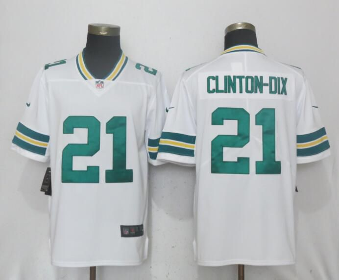 Men Green Bay Packers 21 Clinton-Dix White Vapor Untouchable Limited Playe Nike NFL Jerseys