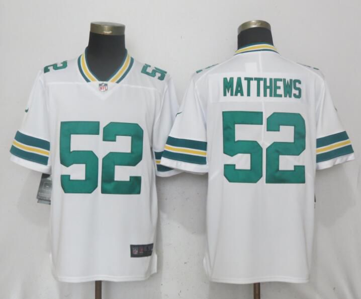 Men Green Bay Packers 52 Matthews White Vapor Untouchable Limited Playe Nike  NFL Jerseys