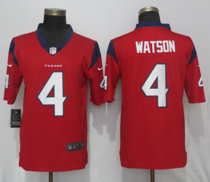 Men Houston Texans 4 Watson Red Nike Vapor Untouchable Limited NFL Jerseys