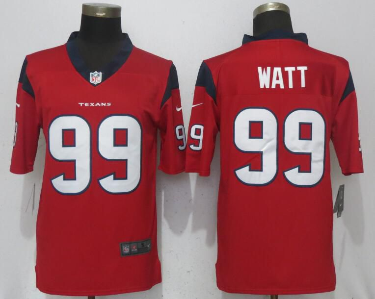 Men Houston Texans 99 Watt Red Nike Vapor Untouchable Limited NFL Jerseys