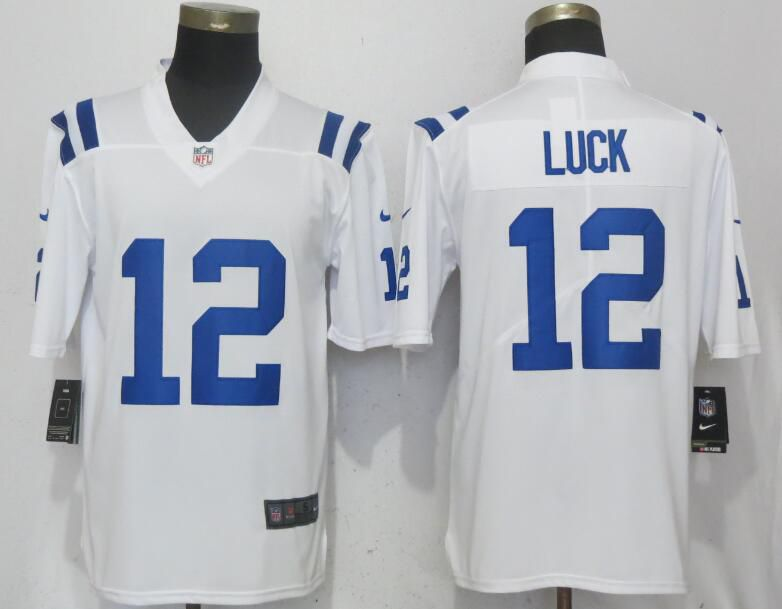 Men Indianapolis Colts 12 Luck White Nike Vapor Untouchable Limited Player NFL Jerseys