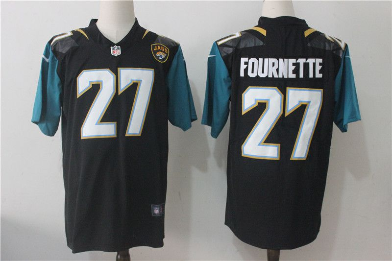 Men Jacksonville Jaguars 27 Fournette Black Nike Vapor Untouchable Limited NFL Jerseys