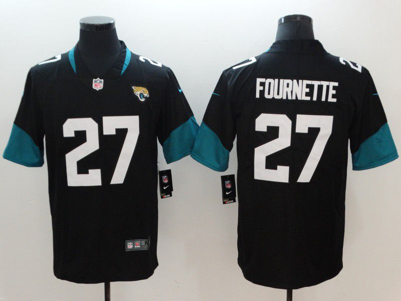 Men Jacksonville Jaguars 27 Fournette Black Vapor Untouchable Limited Player Nike NFL Jerseys