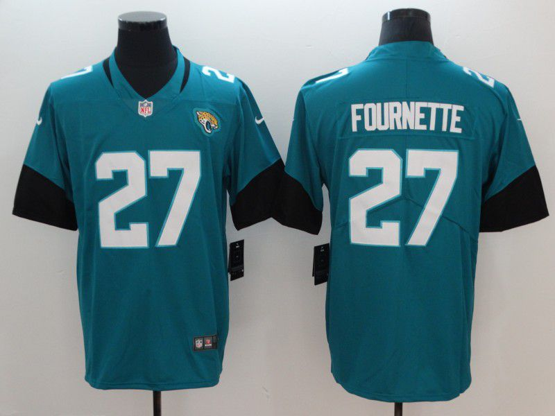 Men Jacksonville Jaguars 27 Fournette Green Vapor Untouchable Limited Player Nike NFL Jerseys