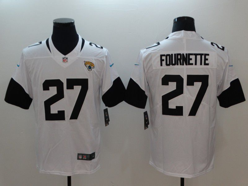 Men Jacksonville Jaguars 27 Fournette White Vapor Untouchable Limited Player Nike NFL Jerseys