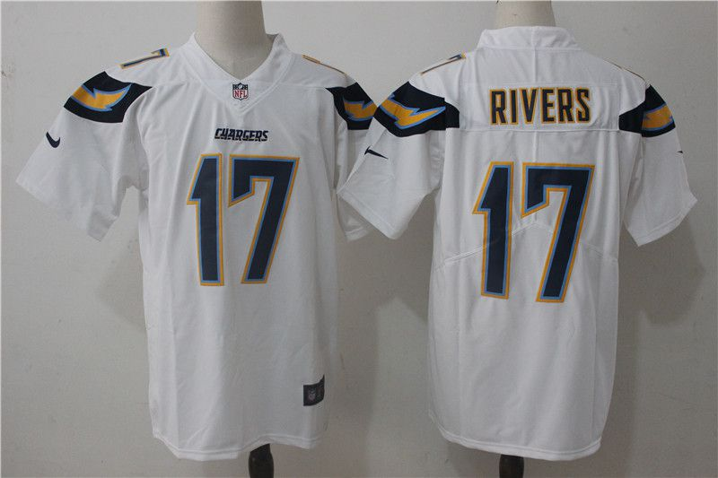 Men Los Angeles Chargers 17 Rivers White Nike Vapor Untouchable Limited NFL Jerseys
