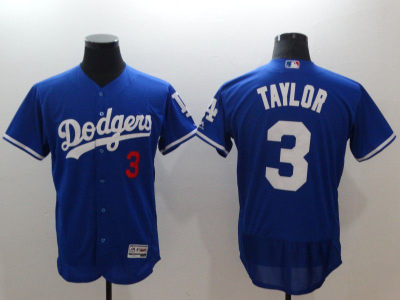 Men Los Angeles Dodgers 3 Taylor Blue Elite MLB Jerseys