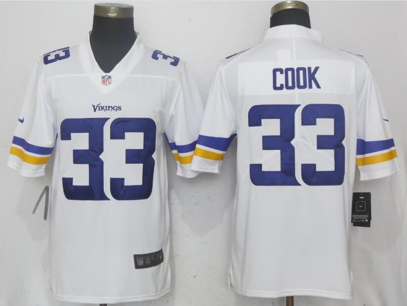 Men Minnesota Vikings 33 Cook White Vapor Untouchable Limited Player Nike NFL Jerseys