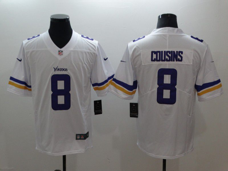 Men Minnesota Vikings 8 Cousins White Nike Vapor Untouchable Limited NFL Jerseys