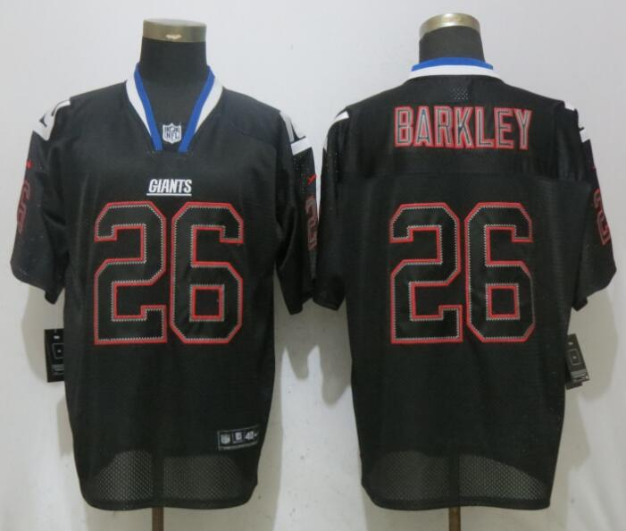 Men New York Giants 26 Barkley Lights Out Black Elite NFL Jerseys