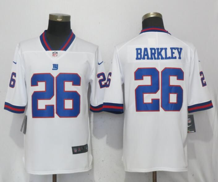 Men New York Giants 26 Barkley Navy White Nike Color Rush Limited NFL Jerseys