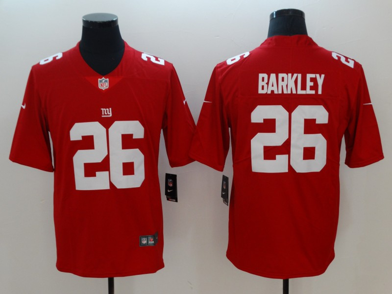 Men New York Giants 26 Barkley Red Vapor Untouchable Limited Playe NFL Jerseys