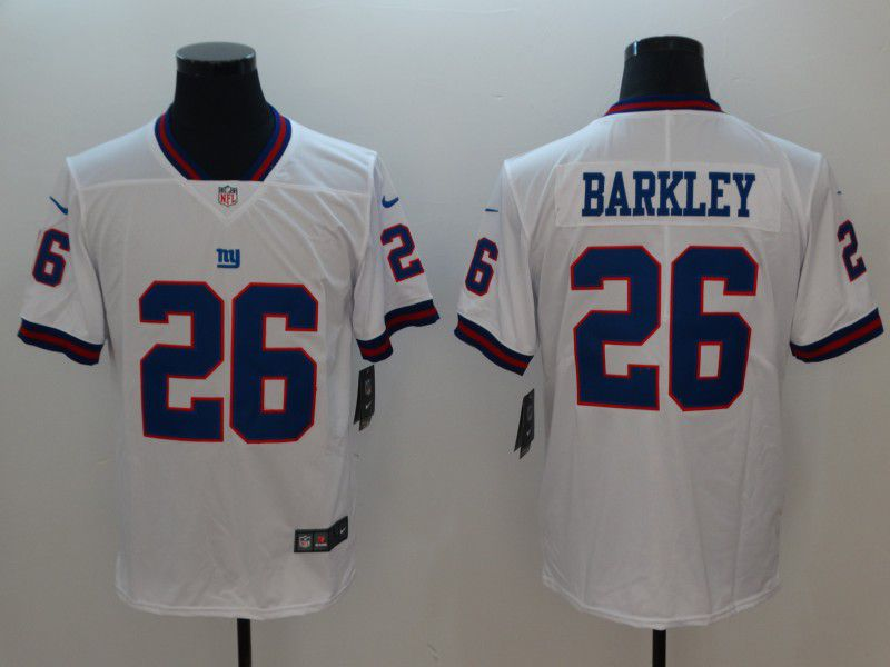 Men New York Giants 26 Barkley White Nike Vapor Untouchable Limited NFL Jerseys