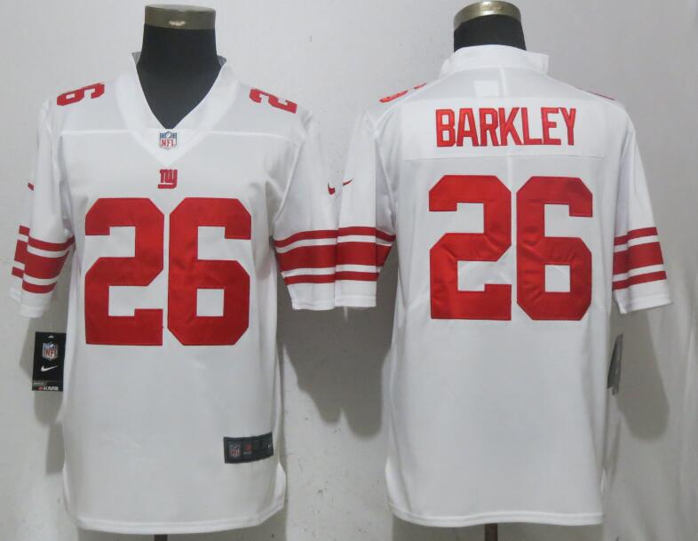 Men New York Giants 26 Barkley White Vapor Untouchable Limited Playe NFL Jerseys