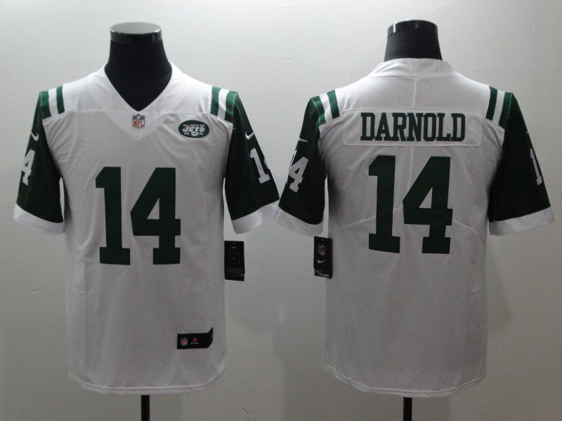 Men New York Jets 14 Darnold White Nike Vapor Untouchable Limited NFL Jerseys