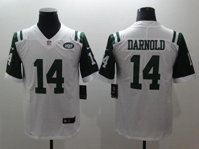 fa19f2b43 Men New York Jets 14 Darnold White Nike Vapor Untouchable Limited NFL  Jerseys