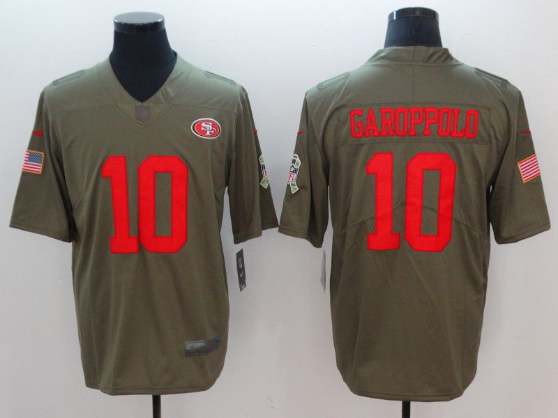 Men San Francisco 49ers 10 Garoppolp Grey Vapor Untouchable Limited Player Nike NFL Jerseys