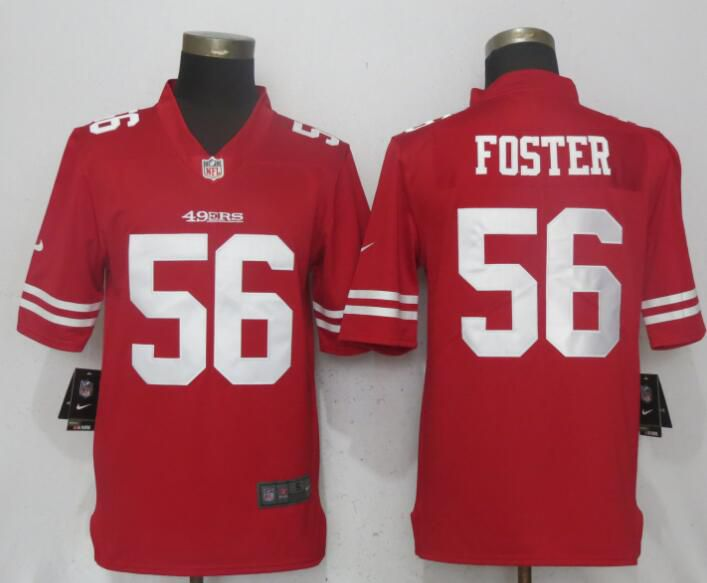 Men San Francisco 49ers 56 Foster Red Vapor Untouchable Limited Player Nike NFL Jerseys