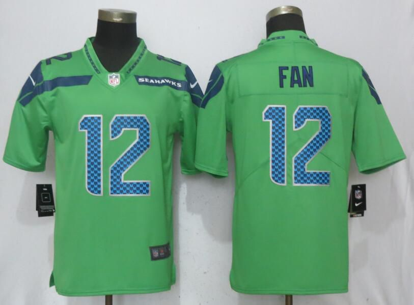 Men Seattle Seahawks 12 Fan Green Nike Vapor Untouchable Limited NFL Jerseys