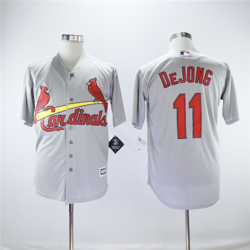 Men St.Louis Cardinals 11 Dejong Grey Game MLB Jerseys