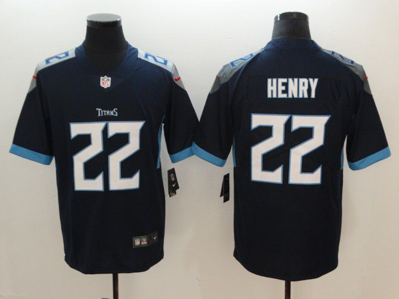 Men Tennessee Titans 22 Henry Drak Blue Nike Vapor Untouchable Limited NFL Jerseys
