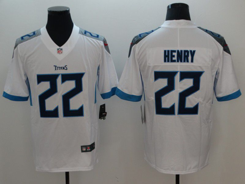 Men Tennessee Titans 22 Henry White Vapor Untouchable Limited Player Nike NFL Jerseys