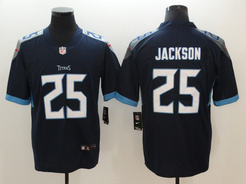 Men Tennessee Titans 25 Jackson Dark Blue Nike Vapor Untouchable Limited NFL Jerseys