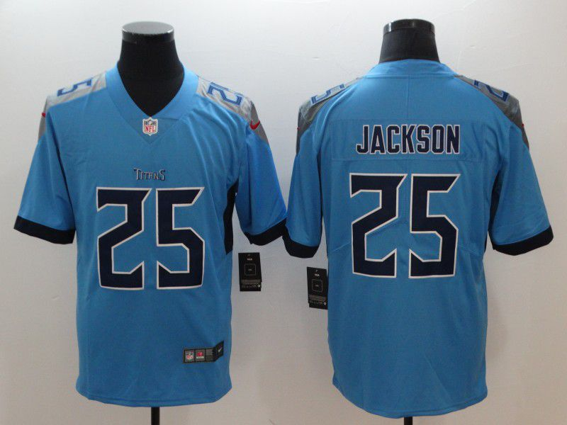 Men Tennessee Titans 25 Jackson Light Blue Nike Vapor Untouchable Limited NFL Jerseys
