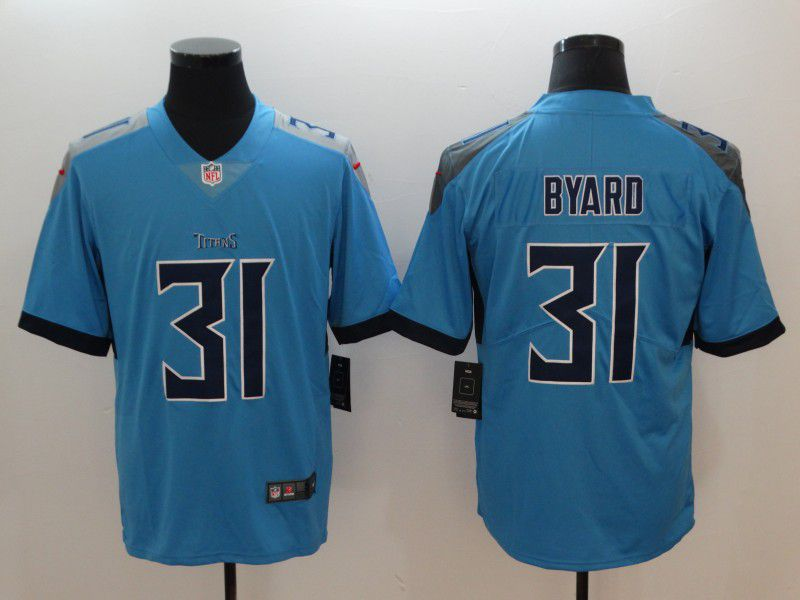 Men Tennessee Titans 31 Byard Light Blue Nike Vapor Untouchable Limited NFL Jerseys