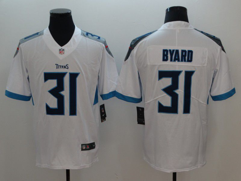 Men Tennessee Titans 31 Byard White Vapor Untouchable Limited Player Nike NFL Jerseys