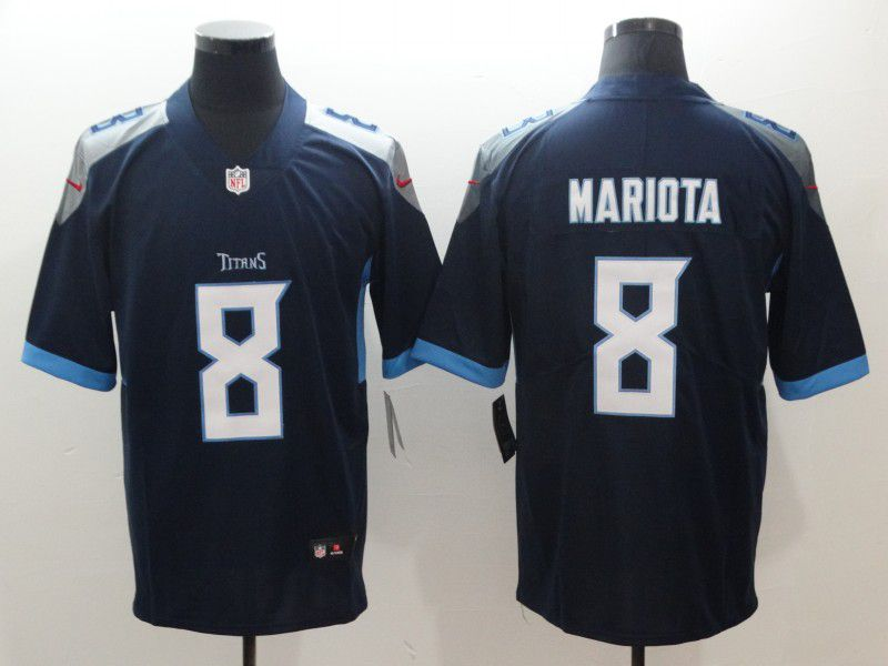 Men Tennessee Titans 8 Mariota Blue Nike Vapor Untouchable Limited NFL Jerseys