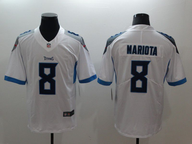 Men Tennessee Titans 8 Mariota White Nike Vapor Untouchable Limited NFL Jerseys