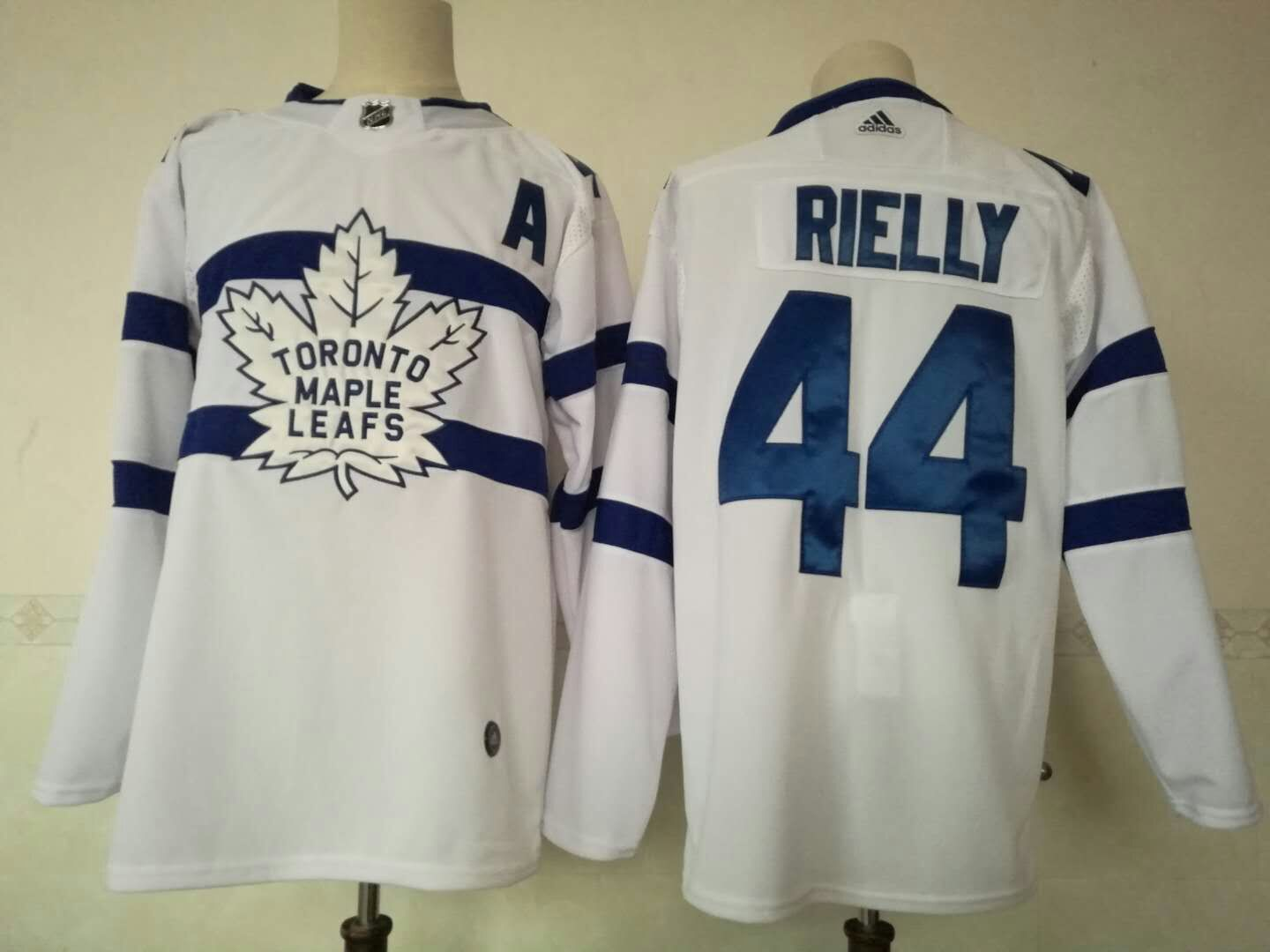 Men Toronto Maple Leafs 44 Rielly White Adidas Hockey Stitched NHL Jerseys