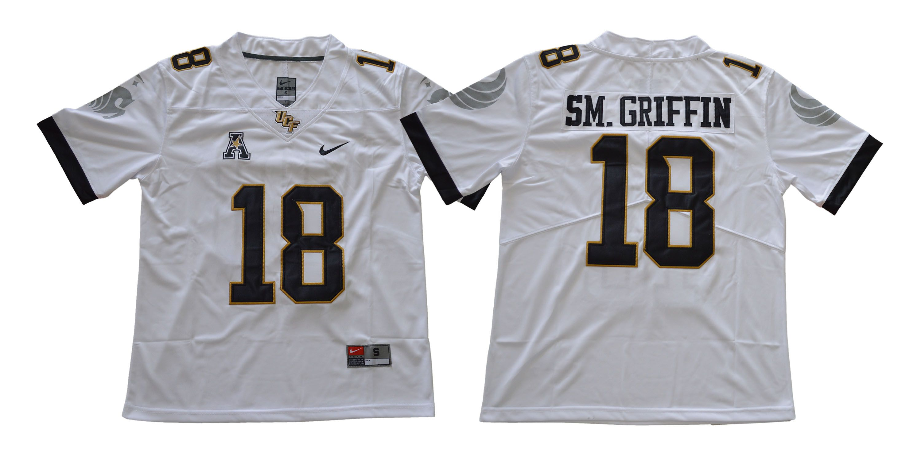 Men UCF 18 Sm.Griffin White Nike NCAA Jerseys