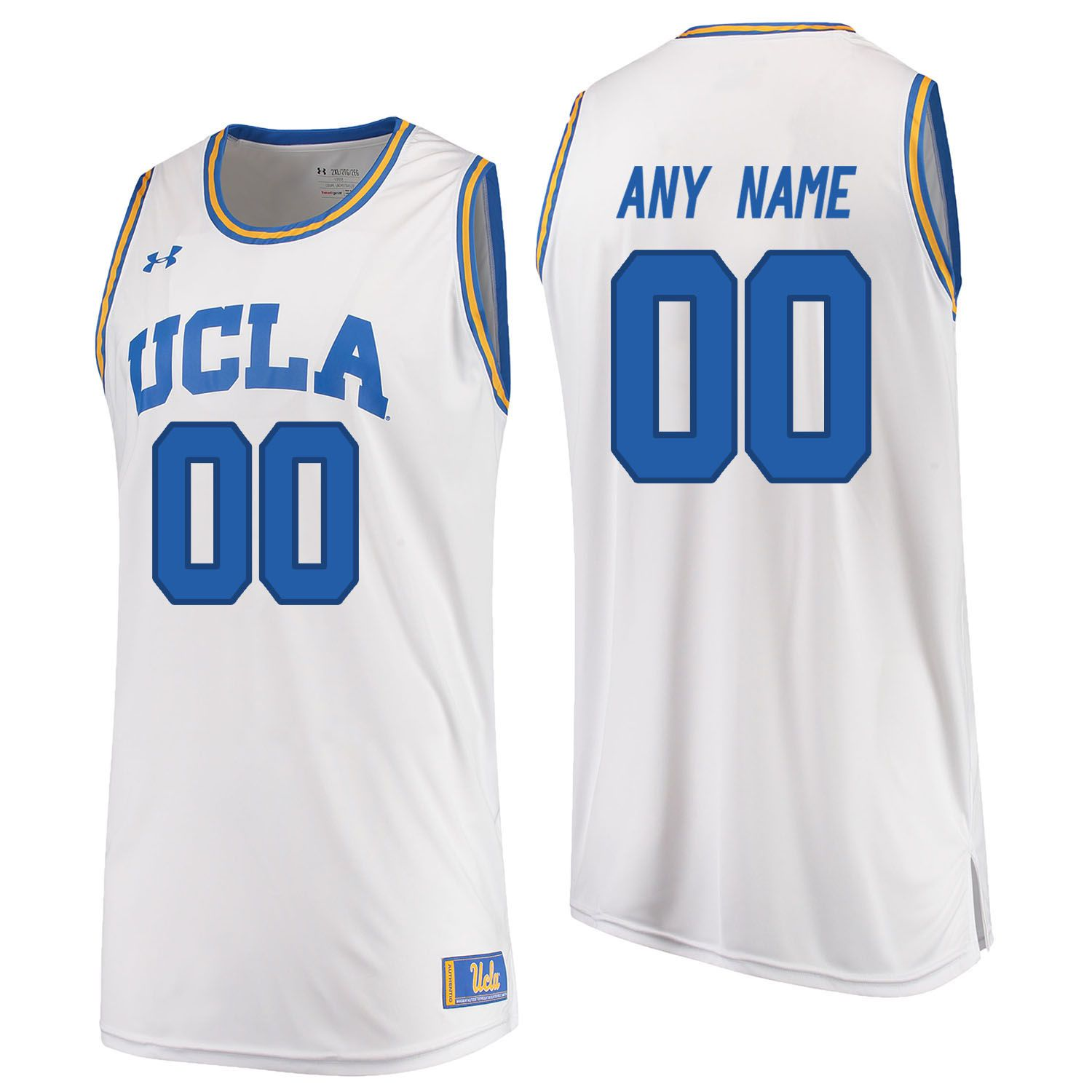 Men UCLA UA 00 Any Name White Customized NCAA Jerseys